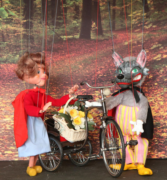 Red Riding Hood meets the Big Bad Wolf...