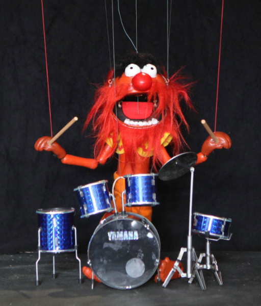 Animal takes to the drums..