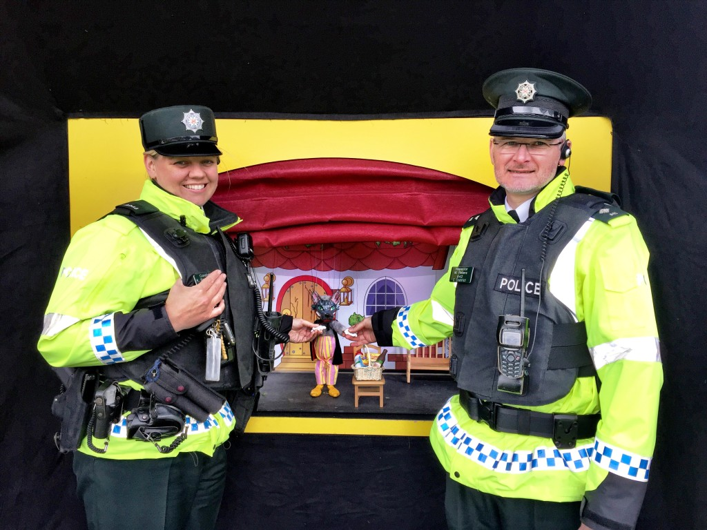 Constable Ward and Inspector Peters, of the PSNI, arrest the Big Bad Wolf!