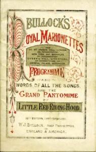 Bullocks Royal Marionettes Programme