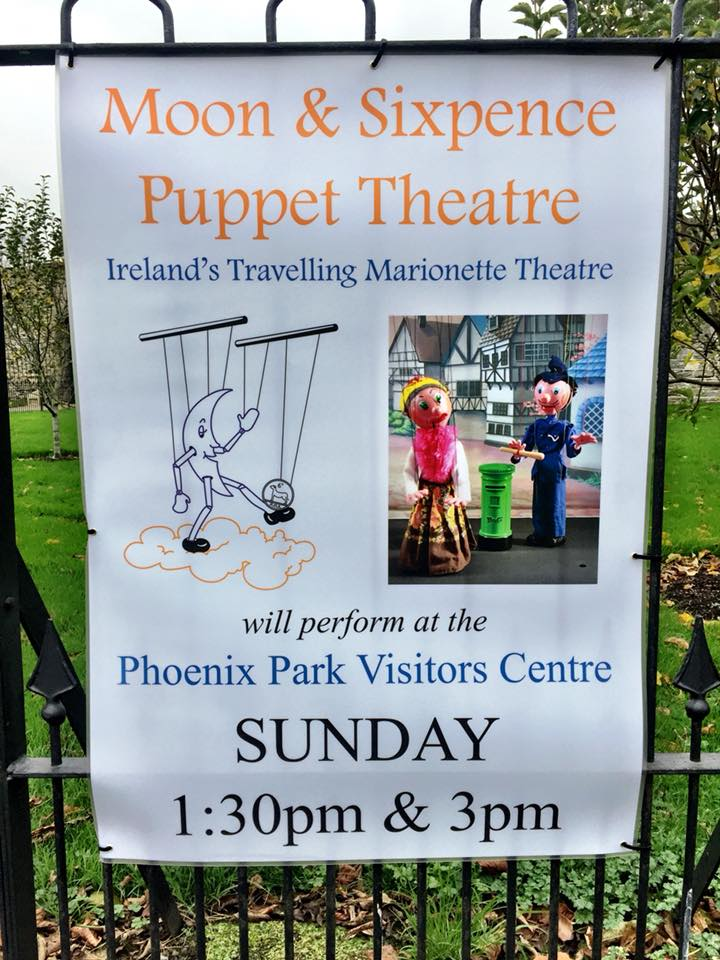 Poster for Moon & Sixpence performance at Phoenix Park Visitor Centre